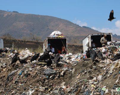 El vertedero de Amsa, se encuentra pronto a un cierre técnico, debido al poco espacio que hay en el terreno. Fotografía Prensa Libre: Fernando Cabrera