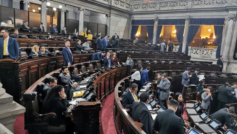 La agenda en el Congreso avanza lento en medio de la controversia por la elección de magistrados de Corte Suprema de Justicia y salas de Apelaciones. (Foto Prensa Libre: Hemeroteca PL )