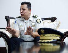 Ervin Mayén, director de la Policía Nacional Civil, (PNC) (Foto Prensa Libre: Esbin García)