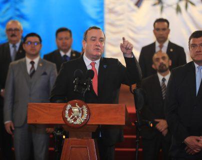 El presidente Alejandro Giammattei anunció que se prepara para detectar cualquier caso de coronavirus. (Foto Prensa Libre: Juan Diego González)