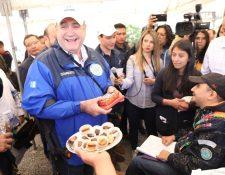 El presidente Alejandro Giammattei estará en Quetzaltenango hasta el próximo viernes 21 de febrero. (Foto Prensa Libre: Gobierno de Guatemala)