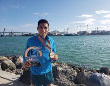 Mario Pacay se subió al tercer podio en Miami. (Foto Prensa Libre: Cortesía)