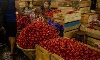 TERMINAL REVISTA D. Serie de fotograf'as de algunos productos que venden en el Mercado La Terminal zona 4 para la Revista D de Prensa Libre. En la imagen, venta de tomate.