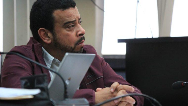 Rubén Rolando Pérez Bethancourt, en la audiencia de primera declaración. (Foto Prensa Libre)