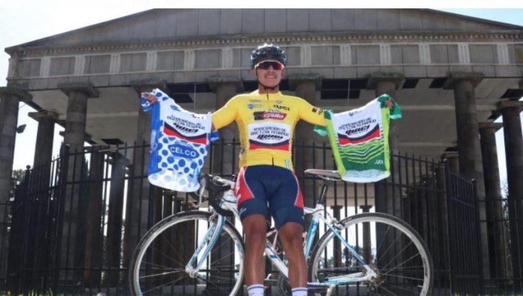 El ciclista Edwin Sam ha tenido destacadas participaciones. (Foto Prensa Libre: Hemeroteca PL)