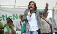 Sandra Torres durante una actividad proselitista en la campaña presidencial del 2019. (Foto Prensa Libre: Hemeroteca PL)