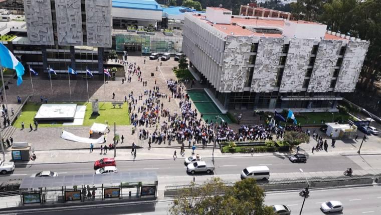 El 4 de febrero el simulacro no abarcará solo al Centro Cívico como fue en septiembre del 2019. (Foto, Prensa Libre: Hemeroteca PL).
