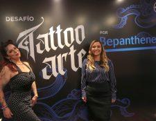 Representantes de Expo Tattoo y Bayer dieron a conocer los pormenores de la expo y de la final del evento Tattoo Arte. Foto Prensa Libre: Norvin Mendoza