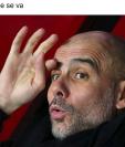 Algunos memes hicieron referencia a Pep Guardiola, entrenador del Manchester City. (Foto Prensa Libre: Redes)