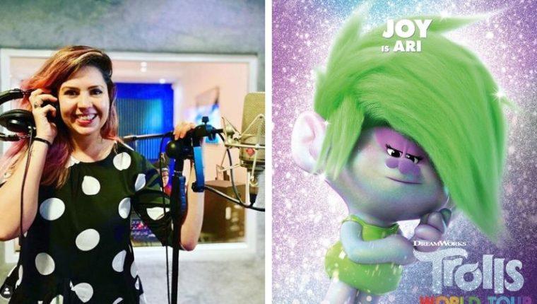 Carmela Enríquez le dio vida a la versión en español de Joy, un personaje de la película Troll 2 de Universal Pictures. (Foto Prensa Libre: Carmela Enríquez / IG, Universal Pictures)