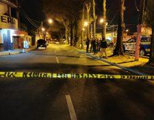 El ataque armado se reportó en la 33 avenida final y 15 calle de la zona 21 el 10 de febrero. (Foto Prensa Libre: María René Gaytán)