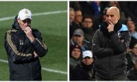 Zinedine Zidane y Pep Guardiola se reencontrarán el miércoles en Madrid por la Champions League. (Foto Prensa Libre: EFE y AFP)