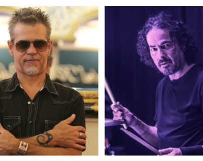 Alan Boguslavsky y Pedro Andreu, integrantes de Héroes del Silencio ofrecerán concierto en Guatemala. (Foto Prensa Libre: Keneth Cruz)