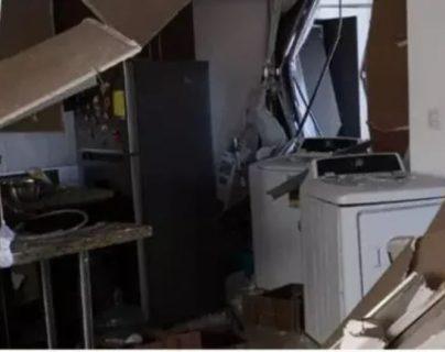Así quedó el apartamento del Condominio Santa María Las Charcas, donde fue la explosión. (Foto, Prensa Libre: Hemeroteca PL).