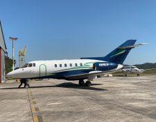 Jet que fue utilizado para transportar droga. (Foto Prensa Libre: Ejército de Guatemala).