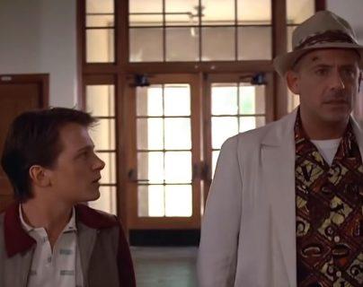 """Video muestra cómo se verían Tom Holland y Robert Downey Jr., como los protagonistas de """"Back to the Future"""".(Foto Prensa Libre: YouTube)"""