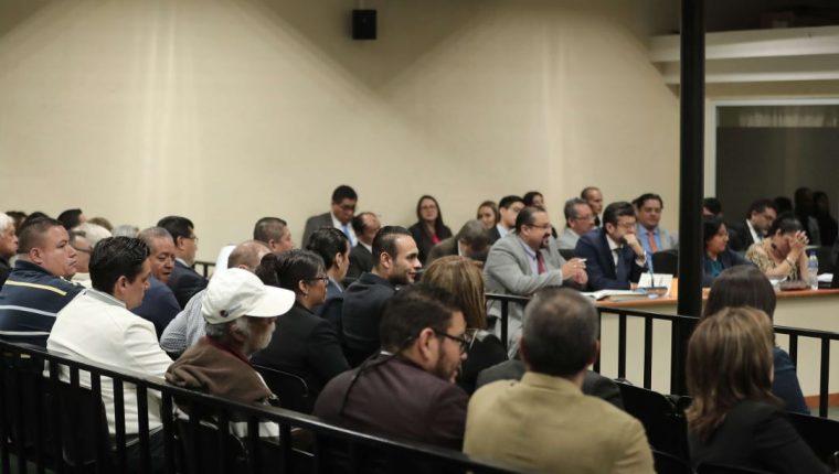 Vista de una audiencia del caso Fenix en abril de 2019. (Foto Prensa Libre: Hemeroteca PL)