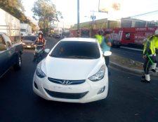 En este vehículo se conducía Emerson Daniel Domínguez Méndez. (Foto Prensa Libre: Cortesía)