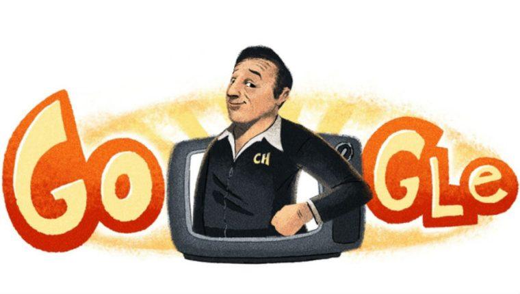 Google recuerda a Chespirito con un Doodle. (Foto Prensa Libre: Google)