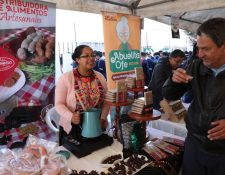 La Feria Mipyme Quetzaltenango en la que las autoridades anunciaron el apoyo financiero. (Foto Prensa Libre: Mineco)