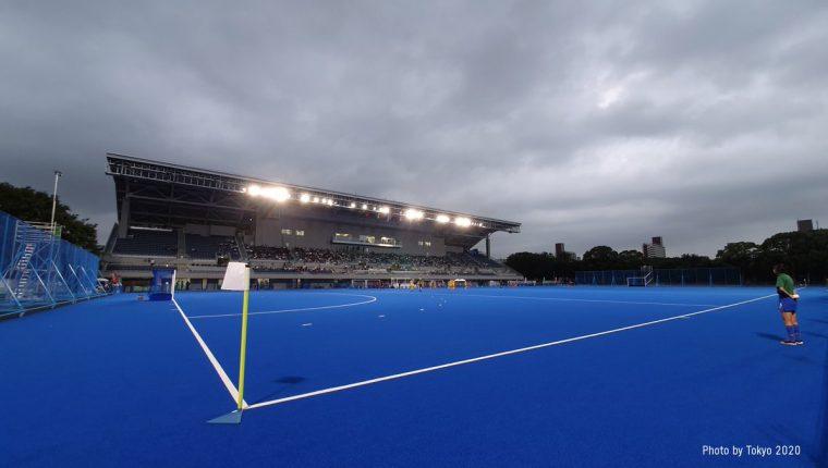 Estadio de Hockey Oi, Tokio, Japón. (Foto Prensa Libre: @Tokyo2020es).