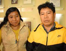 José Gabriel Vásquez y María Yolanda Cuc, originarios de San Juan Sacatepéquez viajaron a Canadá para trabajar por dos años en una granja agrícola en Canadá. (Foto Prensa Libre: Mintrab)