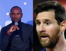 Éric Abida y Lionel Messi. (Fotos Prensa Libre: EFE y AFP).