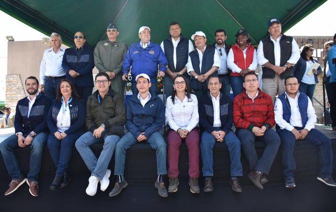 Durante cinco días el Gabinete de Gobierno permaneció en Xela y visito 10 de los 24 municipios. (Foto Prensa Libre: Presidencia)