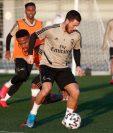 Eden Hazard, durante el entrenamiento de este lunes con el Real Madrid. (Foto Prensa Libre: Twitter Real Madrid)