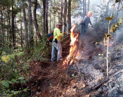 La temporada de incendios forestales aún se encuentra activa, informó Conred. (Foto Prensa Libre: Cortesía)