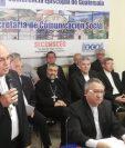 Monseñor Álvaro Ramazzini acompañado por obispos de la Conferencia Episcopal de Guatemala.  (Foto Prensa Libre: Juan Diego González)