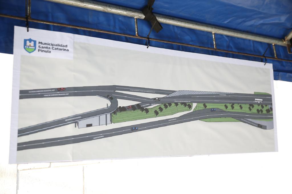 Guatemala y Santa Catarina Pinula anuncian construcción de paso a desnivel al final de la 20 calle