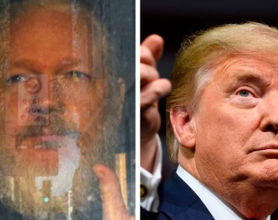 Julian Assange y Donald Trump. (Foto Prensa Libre: Hemeroteca PL)
