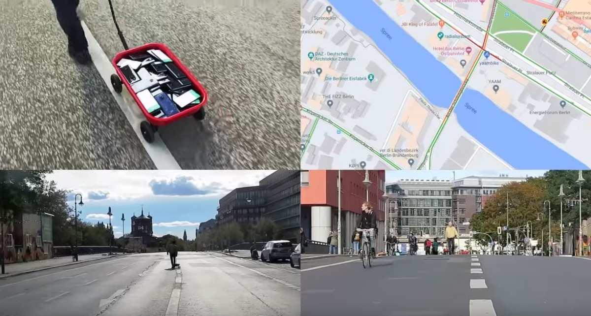 Artista engaña a Google Maps al utilizar 99 móviles que simulan tráfico y se vuelve viral