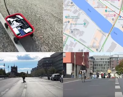 Artista engaña el sistema de Google Maps. (Foto Prensa Libre: YouTube)