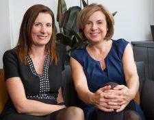 Kate Daly (der.) lanzó la iniciativa en 2015 junto a su amiga Pip Wilson.
