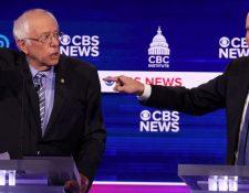 Bernie Sanders y Joe Biden se disputan la candidatura demócrata. GETTY IMAGES