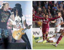 El concierto de Guns N' Roses fue cancelado en Costa Rica, entre otras medidas por el coronavirus. (Fotos Prensa Libre: Hemeroteca/AFP).