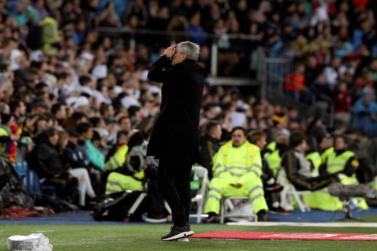 La pizarra de Setién no funciona en el Bernabéu