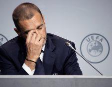 El presidente de la UEFA, Aleksander Ceferin, habló este sábado del futuro de los torneos. (Foto Prensa Libre: EFE)