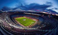 El Camp Nou tendrá que estar a puerta cerrada como prevención del coronavirus. (Foto Prensa Libre: EFE)