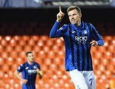 Josip Ilicic, del Atalanta, anotó cuatro goles para que su equipo esté en cuartos de Champions. (Foto Prensa Libre: EFE)