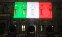 Milan (Italy), 20/03/2020.- The Marino Palace, Milan's city hall, is illuminated with the colors of the Italian flag during the coronavirus emergency lockdown, in Milan, Italy, 20 March 2020. Italy declared state of emergency lockdown against the Covid-19 Coronavirus pandemic. Countries around the world are taking increased measures to prevent the wide spread of the SARS-CoV-2 Coronavirus causing the Covid-19 disease. (Italia) EFE/EPA/PAOLO SALMOIRAGO