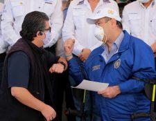 Alejandro Giammattei anunció este sábado un toque de queda que entrará en vigor a partir del 22 de marzo y por los siguientes ocho días. (Foto Prensa Libre: EFE)