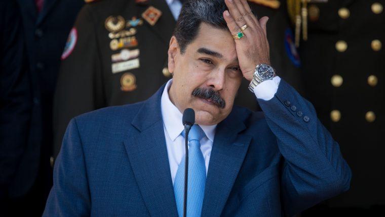 Fotografía de archivo del 12 de marzo de 2020 del presidente de Venezuela, Nicolás Maduro, durante una rueda de prensa en Caracas. (Foto Prensa Libre: EFE)