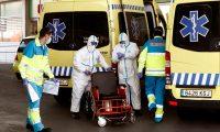 GRAF2163. MADRID, 26/03/2020.- Los servicios de urgencias hoy jueves en el hospital Infanta Leonor, en Madrid, cuando se cumple el duodécimo día del estado de alarma decretado por el Gobierno por la pandemia del coronavirus. EFE/Mariscal