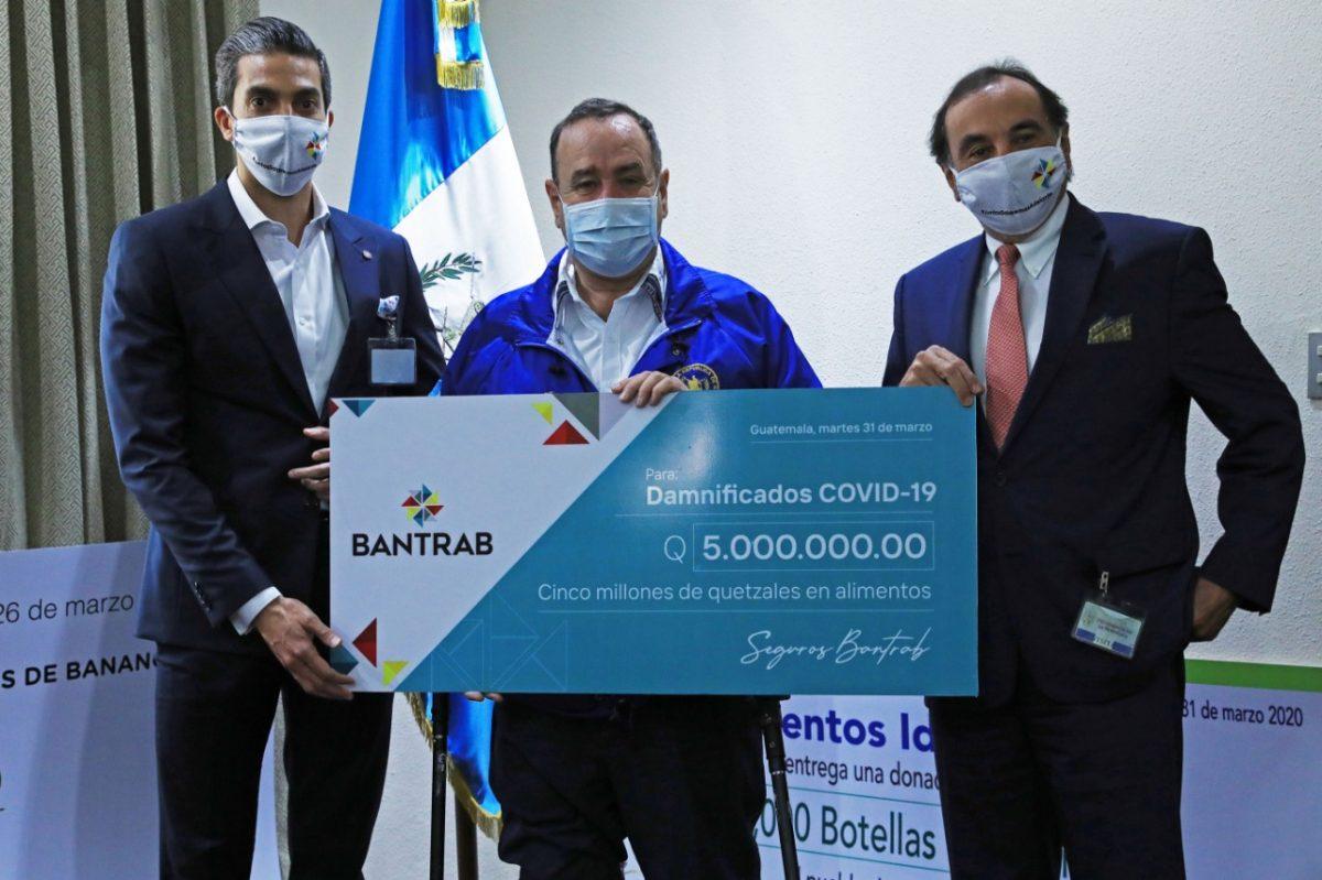 Ante coronavirus, Bantrab se solidariza y dona Q5 millones en alimentos
