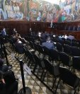 Los diputados no asisten a escuchar los planes de de los candidatos a magistrados al TSE. (Foto Prensa Libre: Érick Ávila)