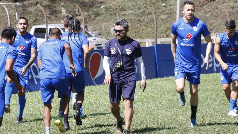 El equipo de Cobán Imperial continúa con su preparación para enfrentar el sábado a Xelajú MC. (Foto Prensa Libre: José Sierra)