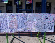 Una pancarta cuyas palabras se traducen a Año Nuevo Ab'. (Foto Prensa Libre: Cortesía Raxché Rodríguez)